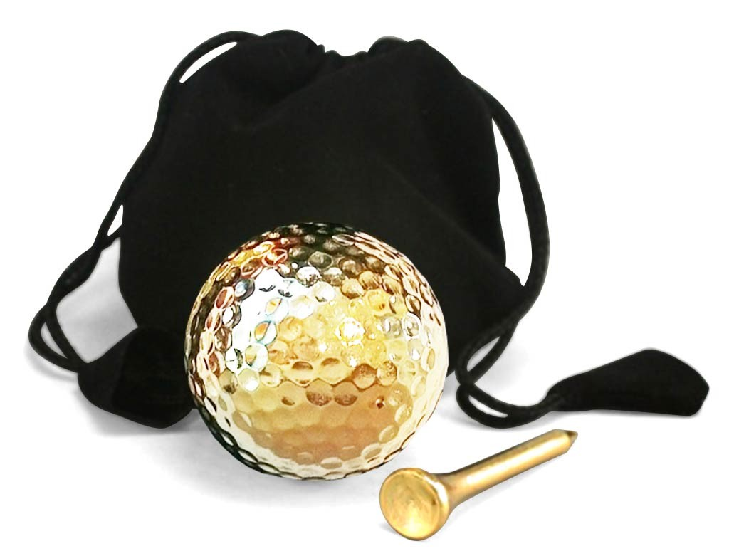 24 karat gold dipped golf ball and tee set playable. Black Bedroom Furniture Sets. Home Design Ideas