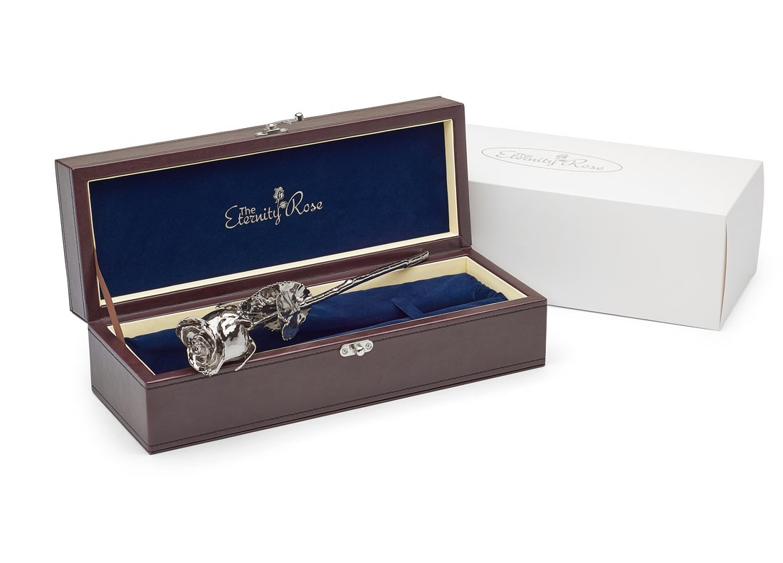gifts for her platinum dipped rose