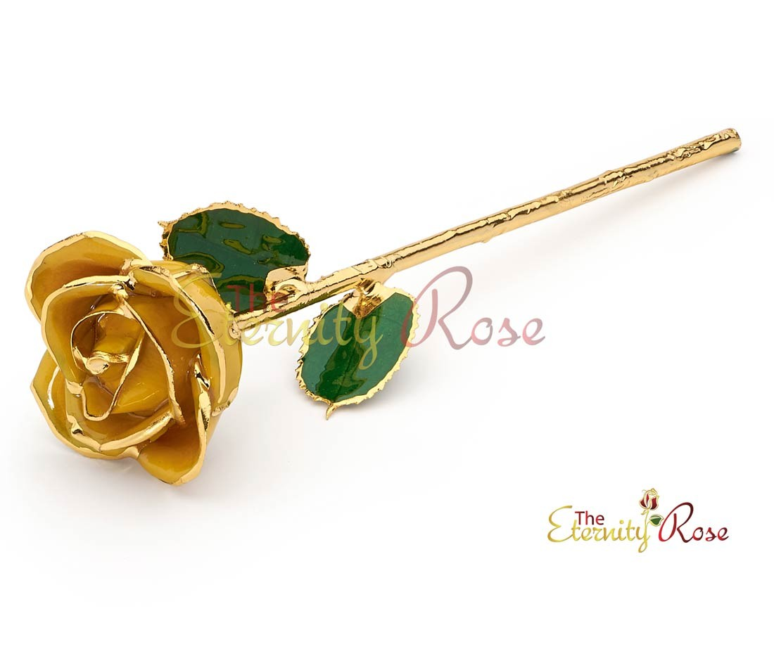 Gifts For Her Yellow Glazed Rose