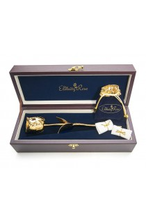 Gold Rose & Red Heart Theme Jewellery Set