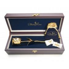 Gold Rose & White Heart Theme Jewellery Set