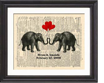 Traditional Theme for 14th Anniversary Gifts: Elephant or Ivory *