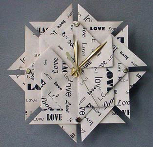 Clock and paper theme