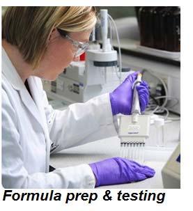 Formula preparation and testing