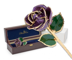 Birthday gift idea for wife glazed eternity rose
