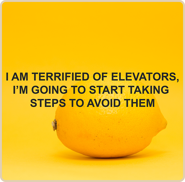 I am terrified of elevators, I'm going to start taking steps to avoid them.
