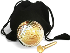 Wedding gift gold dipped golf ball