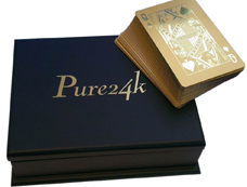 Wedding gift for groom gold dipped poker cards