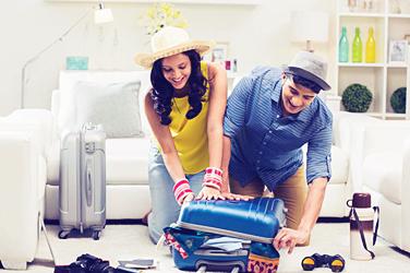 Wedding gift honeymoon suitcase